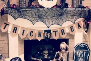 Halloween csontváz dekorációk