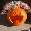 Vidám Halloween töklámpás ötlet