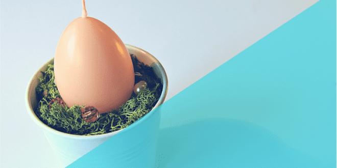 Húsvéti tojásgyertya dekoráció