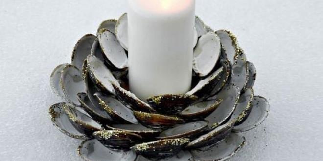 Kagylóból gyertyatartó készítése