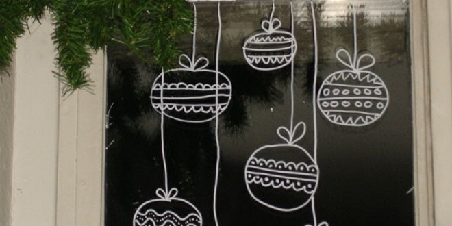 Karácsonyi ablakdekoráció