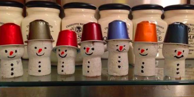 Kávékapszula karácsonyfadísz