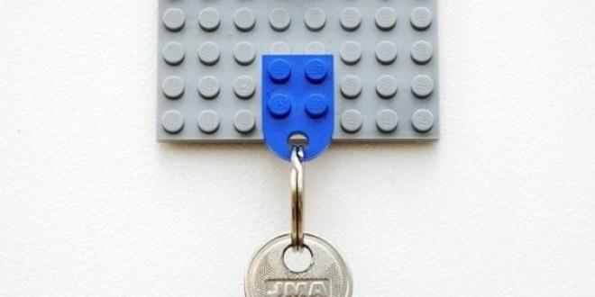 Lego kulcstartó a falra