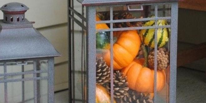 Egyszerű őszi dekor ötlet