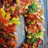 Gyors őszi levélkoszorú