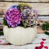 Tökből váza – őszi ötlet
