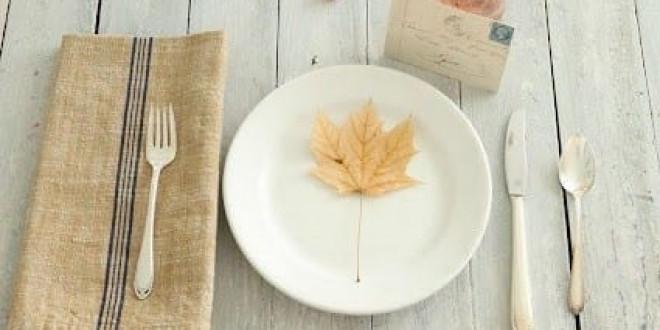 Egyszerű őszi teríték