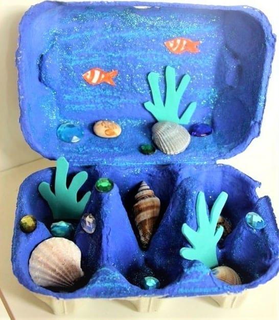 akvárium tojástartóból
