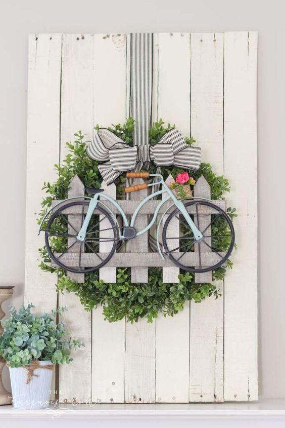 biciklis ajtódísz