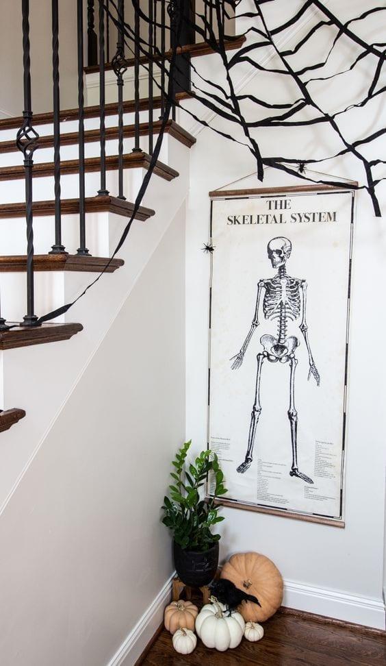 csontváz poszter
