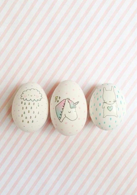 trendi húsvéti tojás