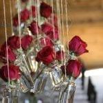 Rózsák apró üvegekben