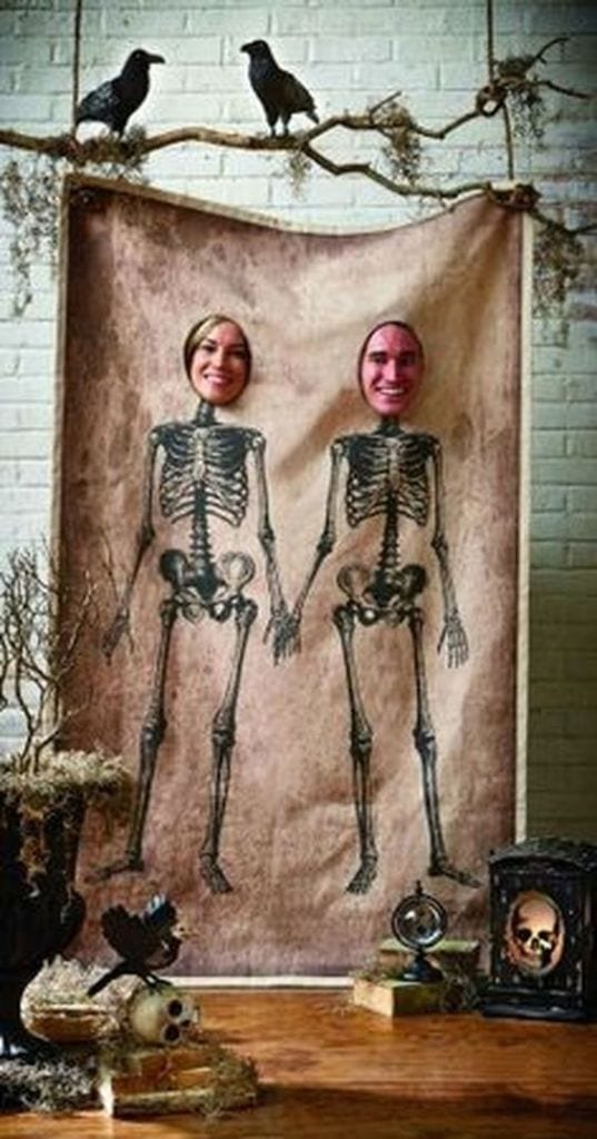 csontváz fotófal