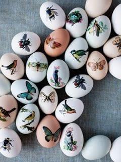 decoupage húsvéti tojás