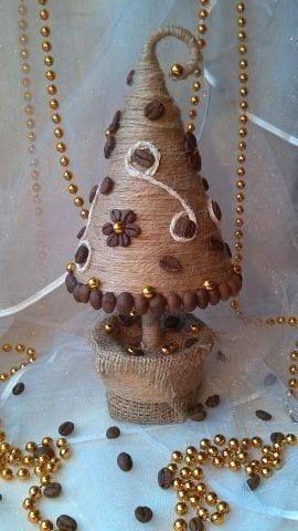 kávés karácsonyfa