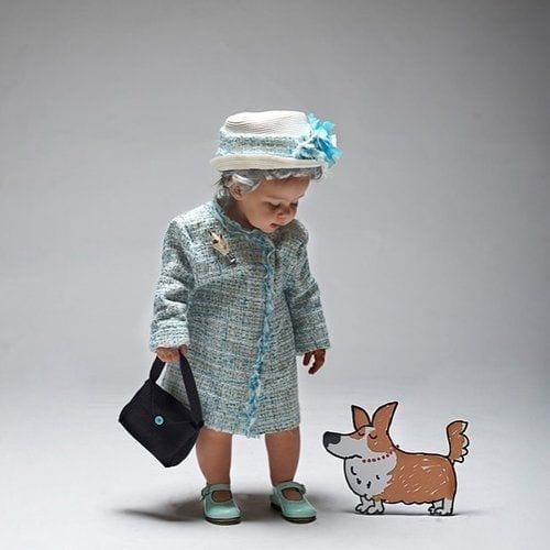 Erzsébet királynő jelmez gyerekeknek