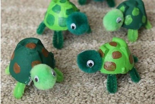 papír teknősök