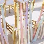 Esküvői szék dekoráció pasztellben