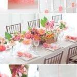 Pasztell asztali dekoráció