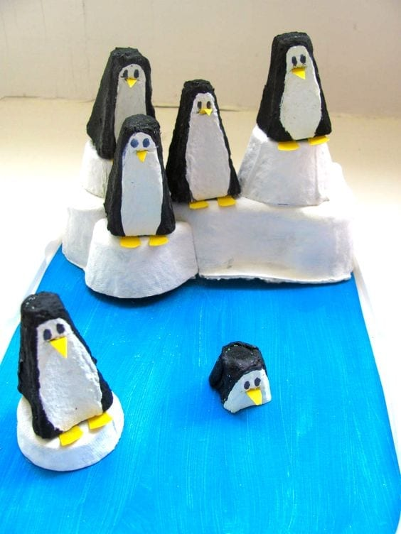 pingvinek-papirbol