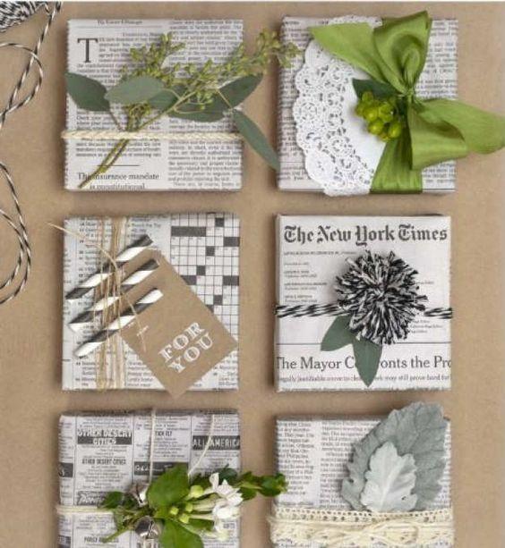 Csomagolás újrahasznosított papírból