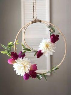 virágos tavaszi ajtódísz
